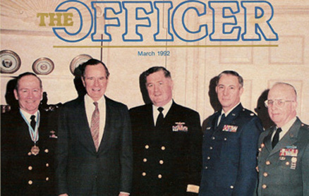 Reserve Officers Association Elected Officers in the White House Oval Office with President Bush